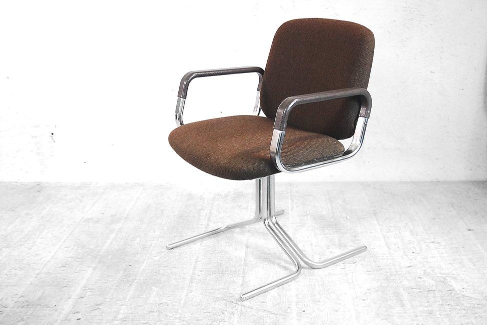 braune aluminium st hle von mauser 1970er 2er set bei. Black Bedroom Furniture Sets. Home Design Ideas