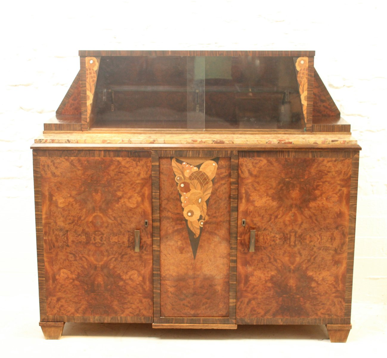 Art Deco Buffet with Display Cabinet for sale at Pamono