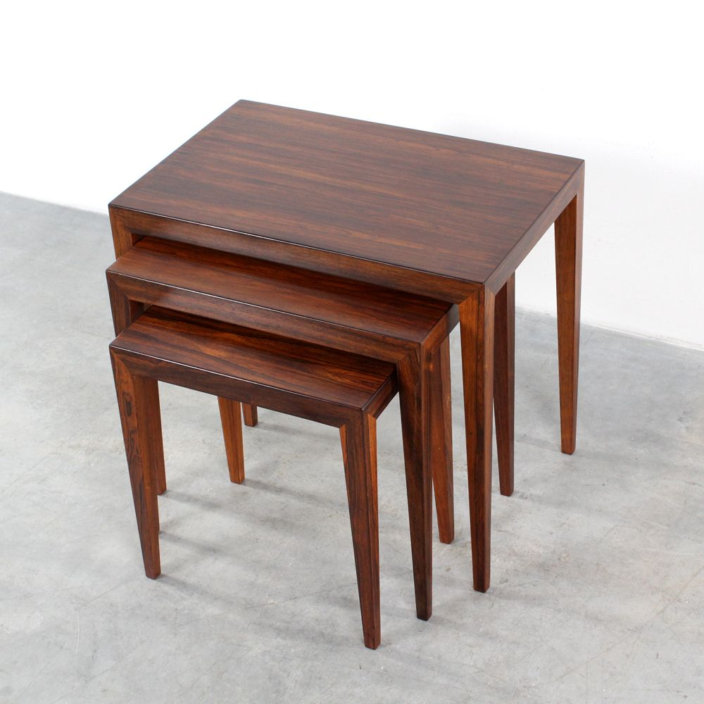 Charming Mid Century Nesting Tables By Severin Hansen Jr For Haslev For Sale At  Pamono