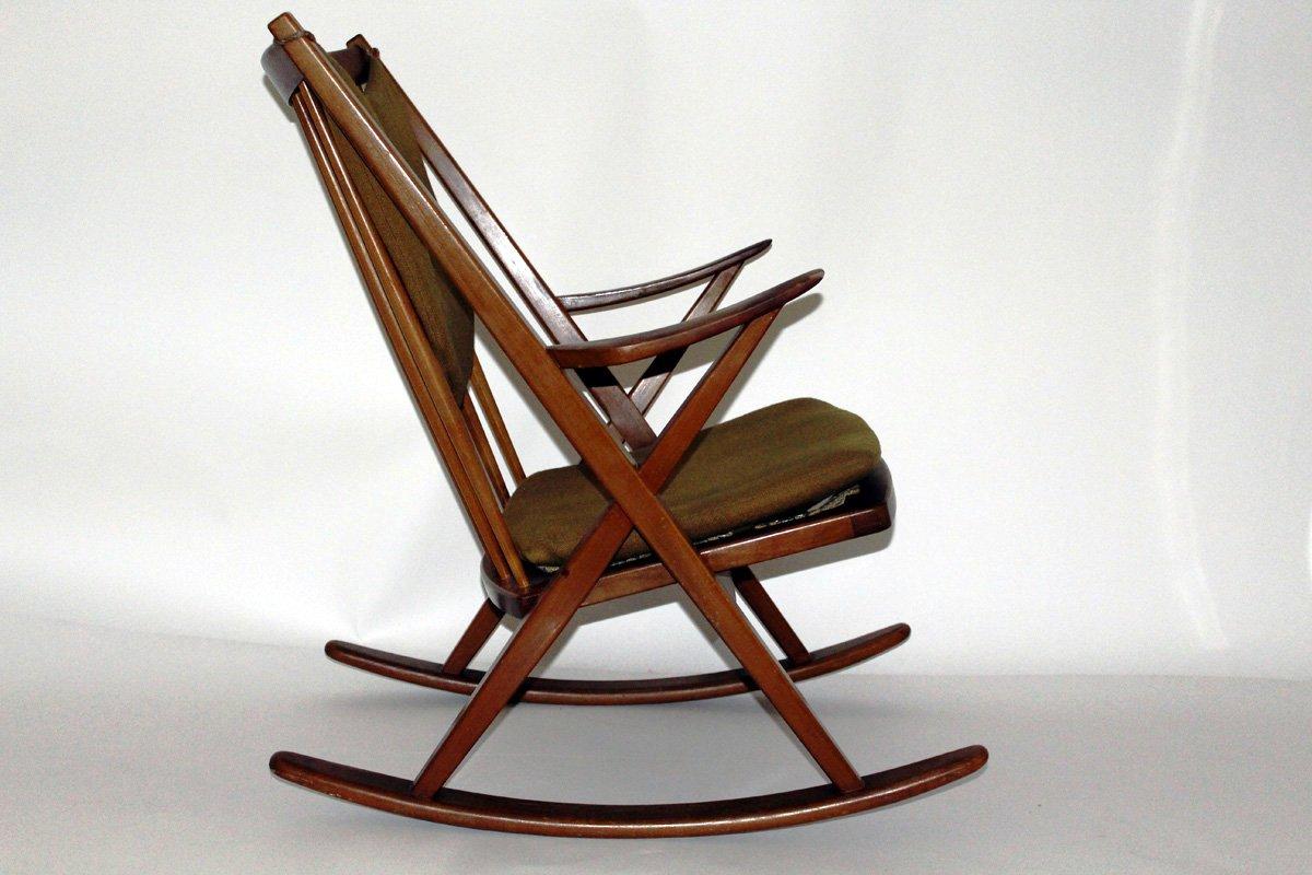 d nischer schaukelstuhl von frank reenshang f r bramin. Black Bedroom Furniture Sets. Home Design Ideas