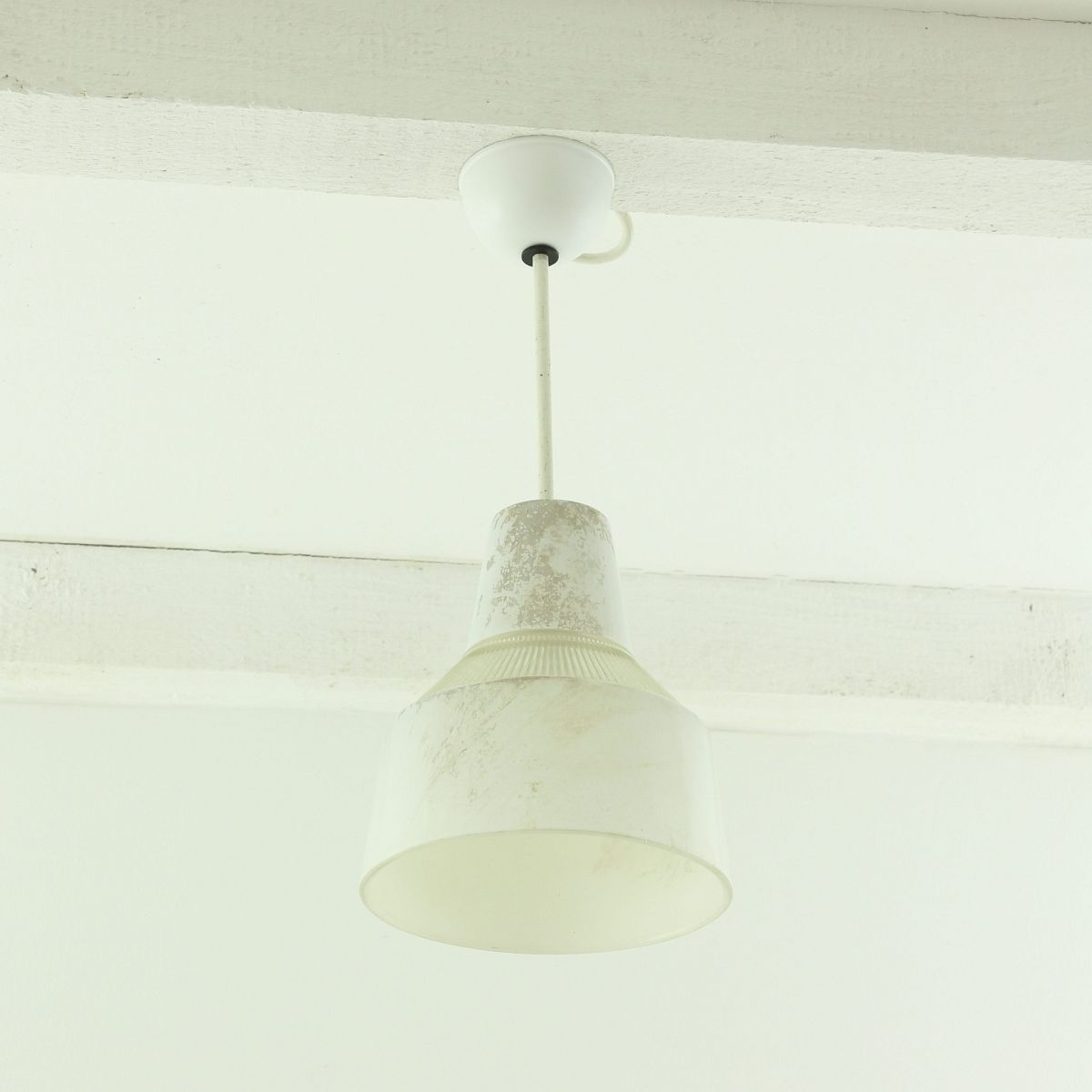 industrielle glas deckenlampe 1930er bei pamono kaufen. Black Bedroom Furniture Sets. Home Design Ideas