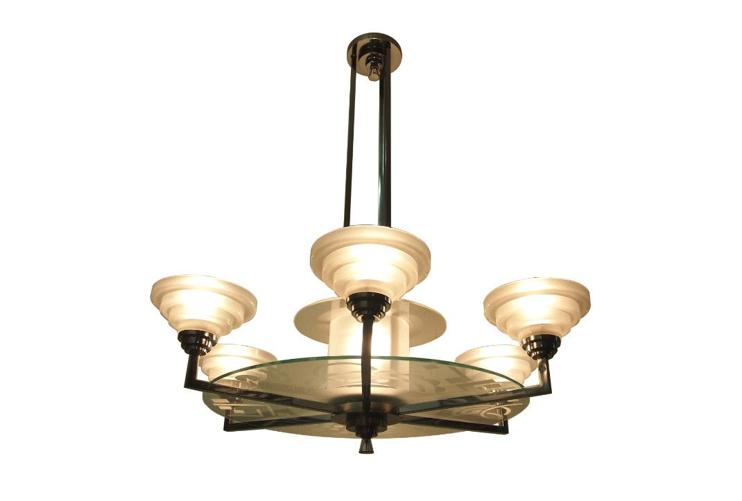 Model 18083 art deco chandelier from francis hubens 1932 for sale model 18083 art deco chandelier from francis hubens 1932 for sale at pamono aloadofball Gallery
