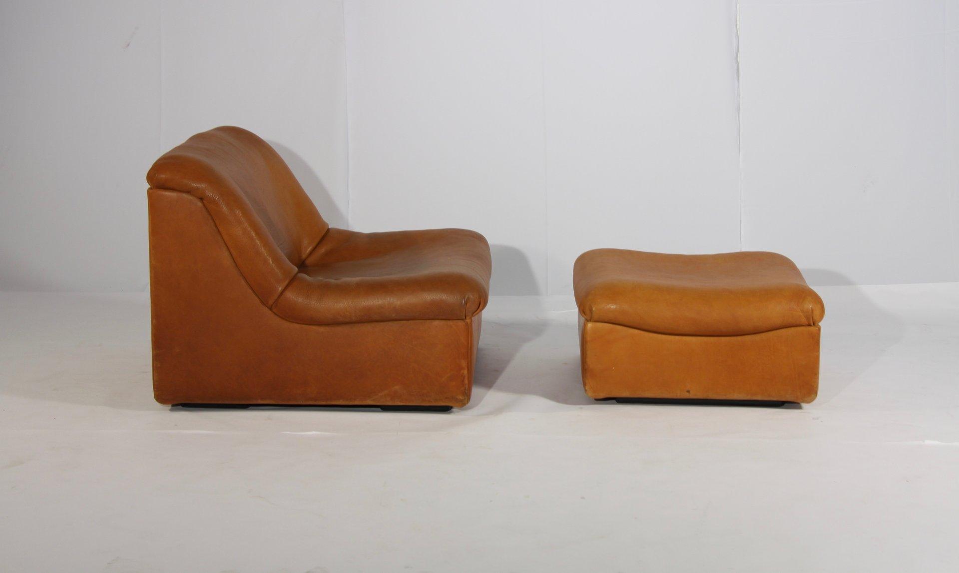 ds 46 sessel und hocker aus b ffelleder von de sede. Black Bedroom Furniture Sets. Home Design Ideas