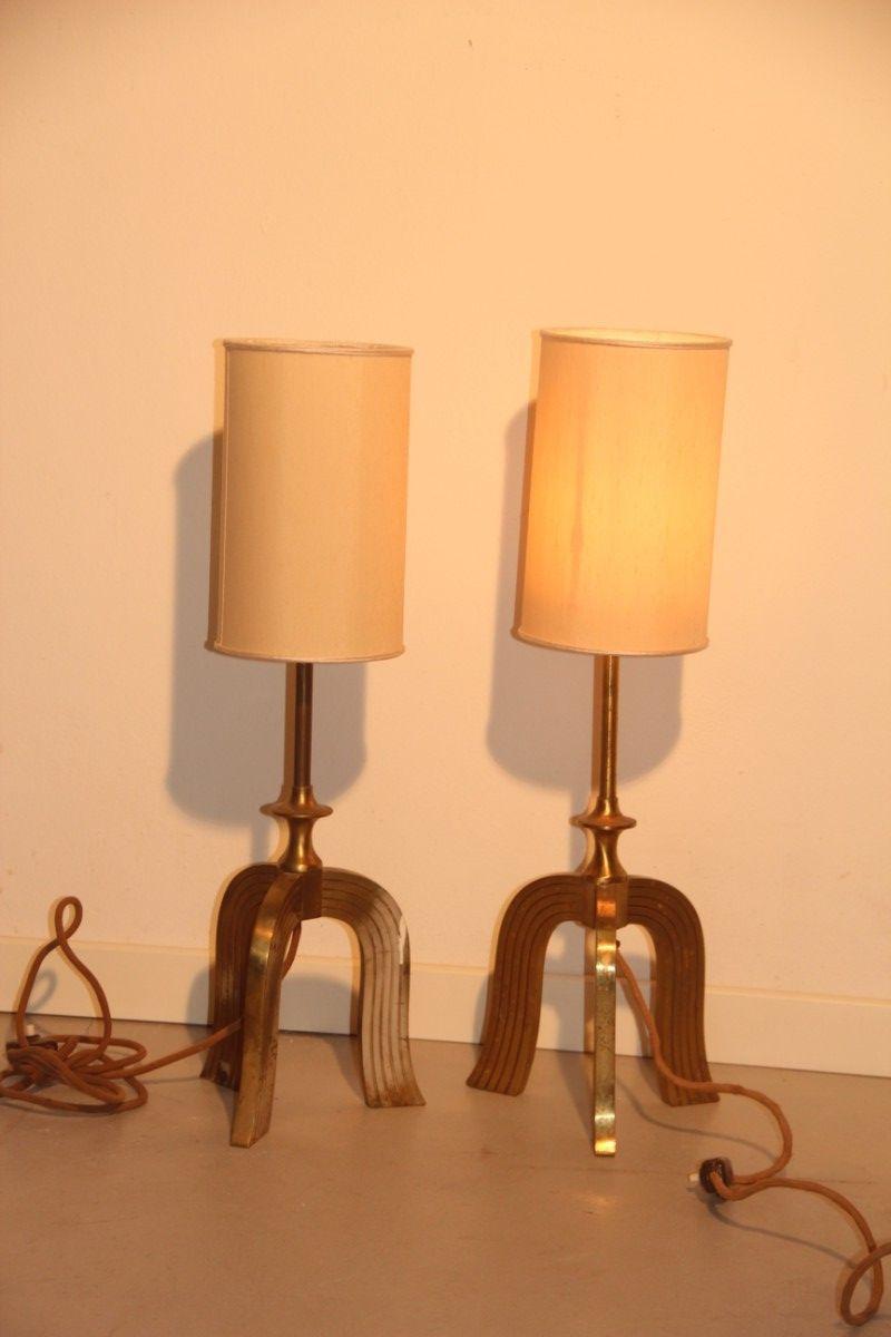 messing art deco lampen 1930er 2er set bei pamono kaufen. Black Bedroom Furniture Sets. Home Design Ideas
