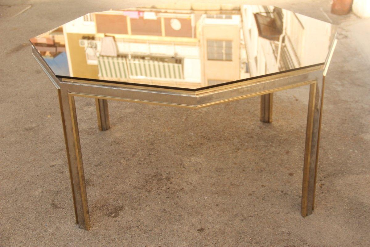 hexagonaler messing metall tisch von romeo rega f r. Black Bedroom Furniture Sets. Home Design Ideas