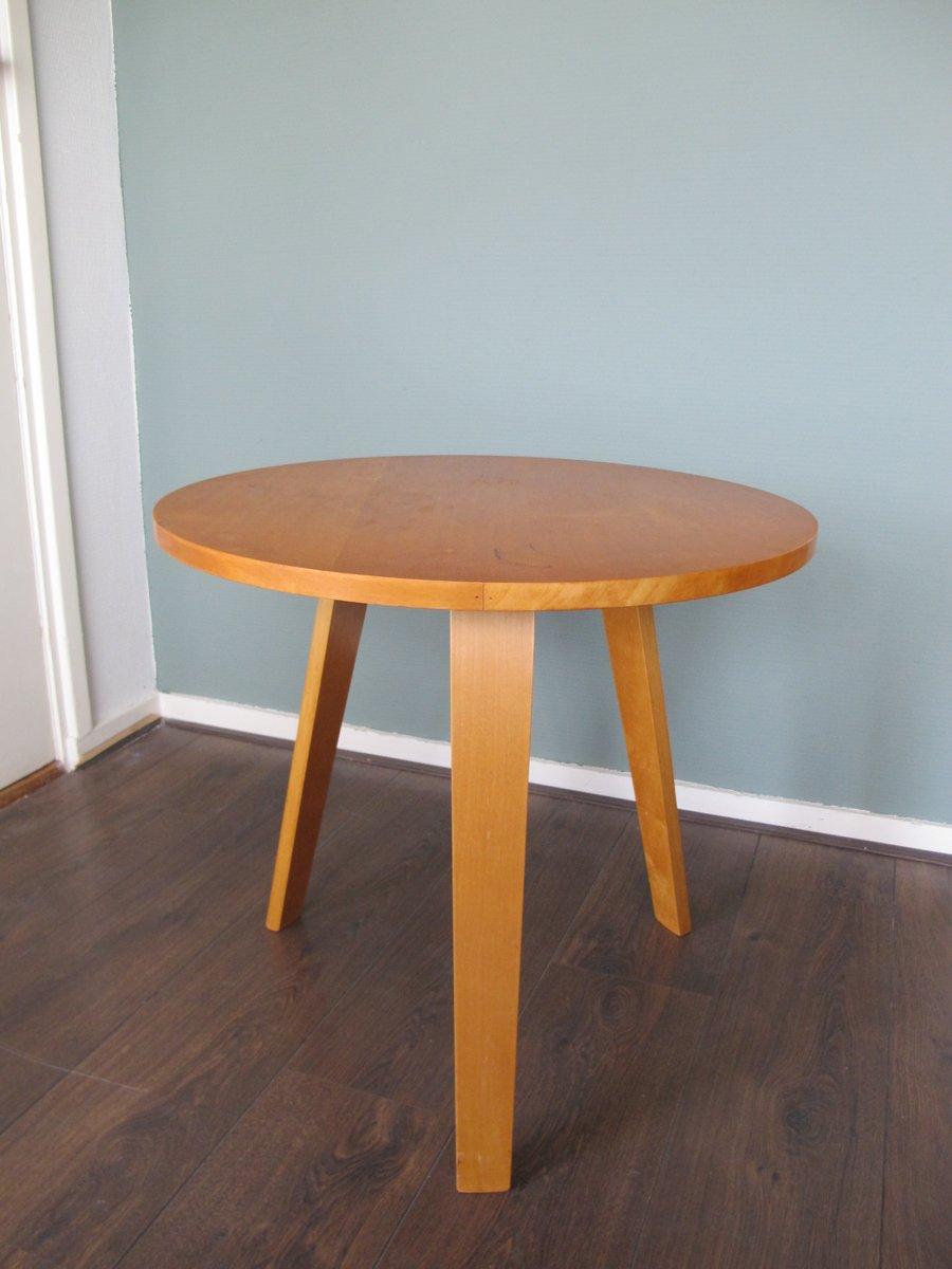 runder schichtholz beistelltisch von cor alons und willem lutjens f r gouda den boer 1950er bei. Black Bedroom Furniture Sets. Home Design Ideas