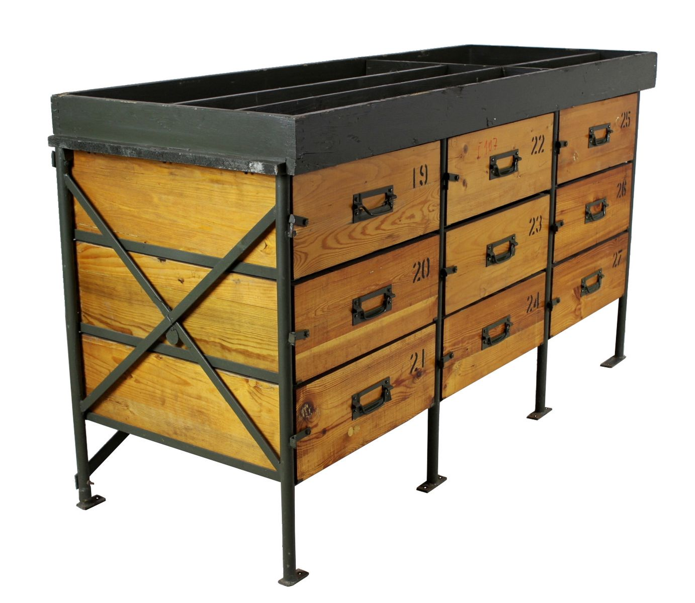 guru drawer of style products attic vintage french allissias industrial chest drawers