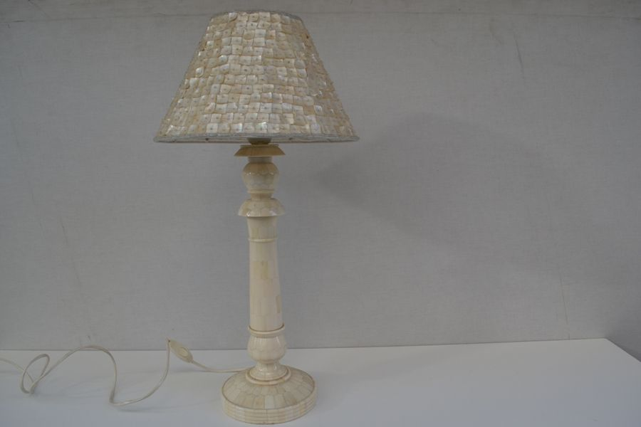 Mother of pearl table lamp 1950s for sale at pamono mother of pearl table lamp 1950s aloadofball Images