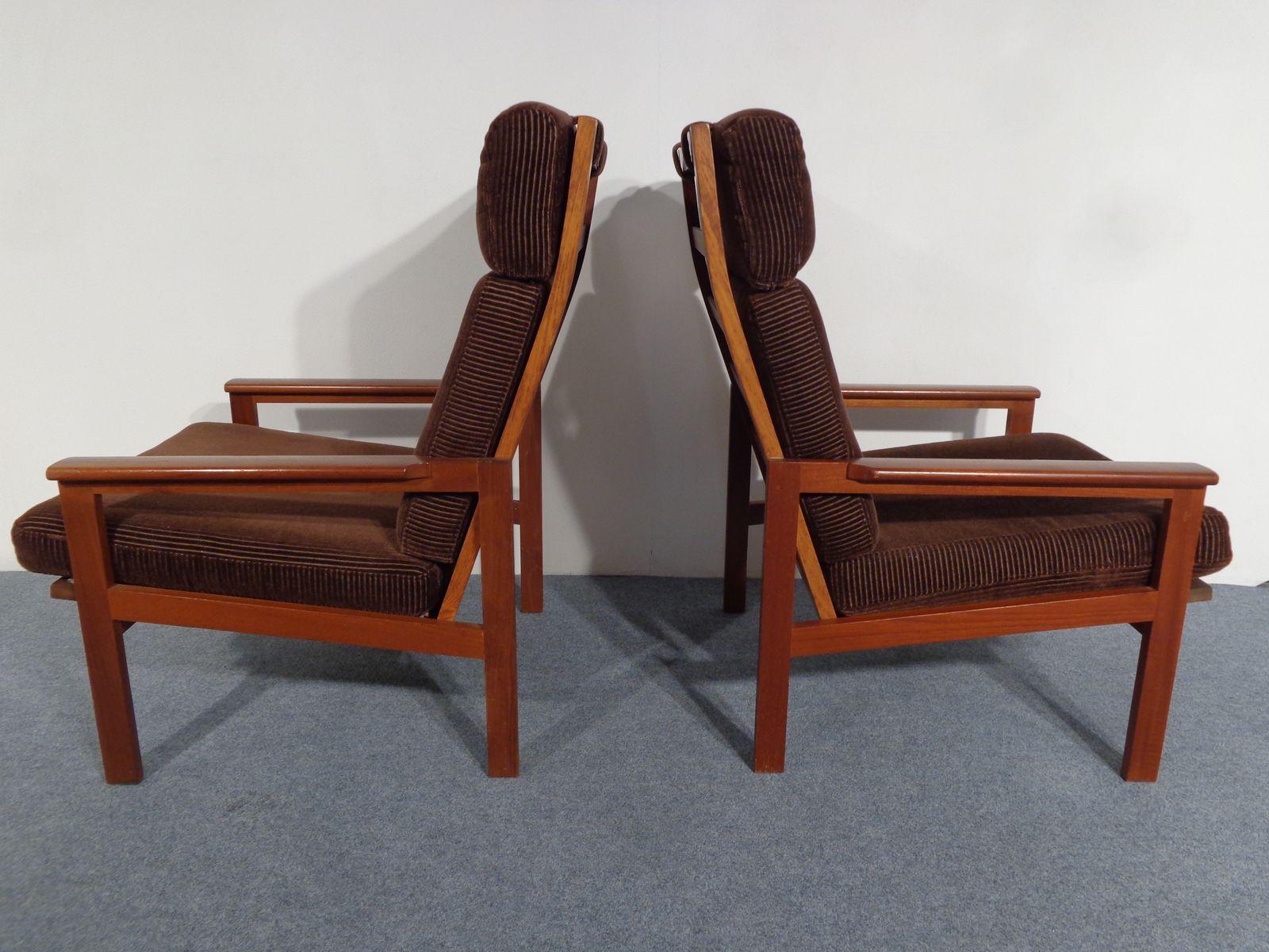 Vintage Teak Chairs by Illum Wikkels¸ and Niels Eilersen Set of 2