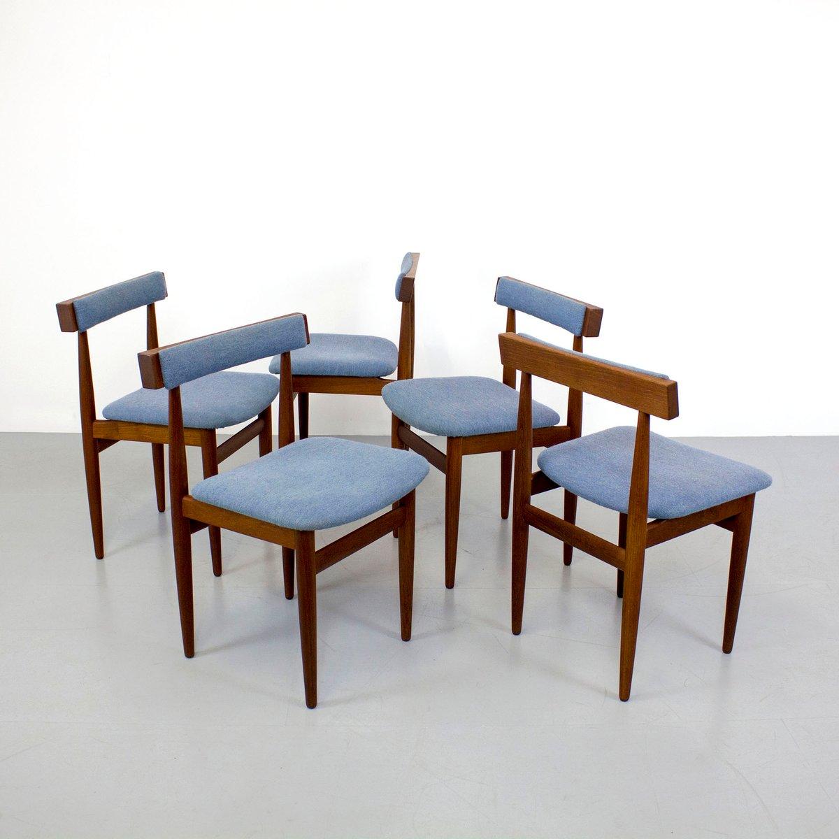 d nische vintage teak st hle von hans olsen f r frem r jle 5er set bei pamono kaufen. Black Bedroom Furniture Sets. Home Design Ideas