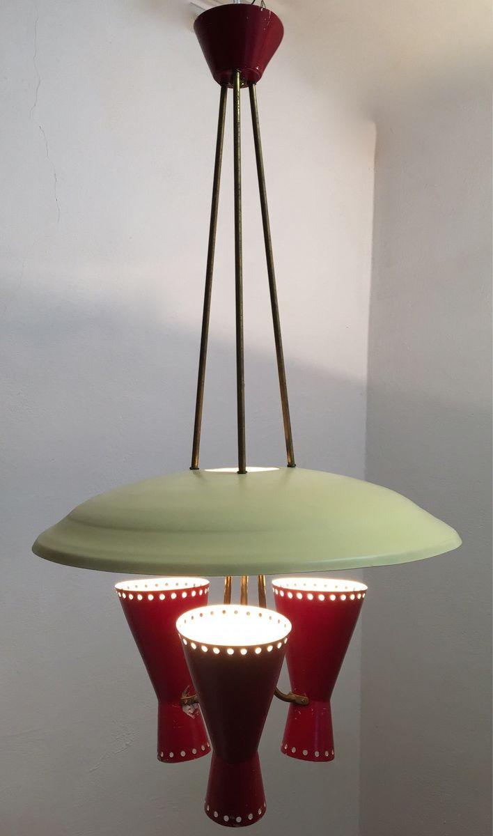 Italienische h ngelampe mit leuchten in diabolo form von for Italienische leuchten