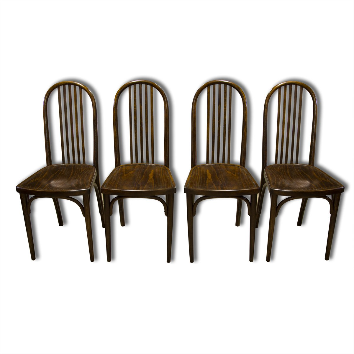 vintage nr 639 esszimmerst hle aus buche von josef hoffmann f r thonet 4er set bei pamono kaufen. Black Bedroom Furniture Sets. Home Design Ideas