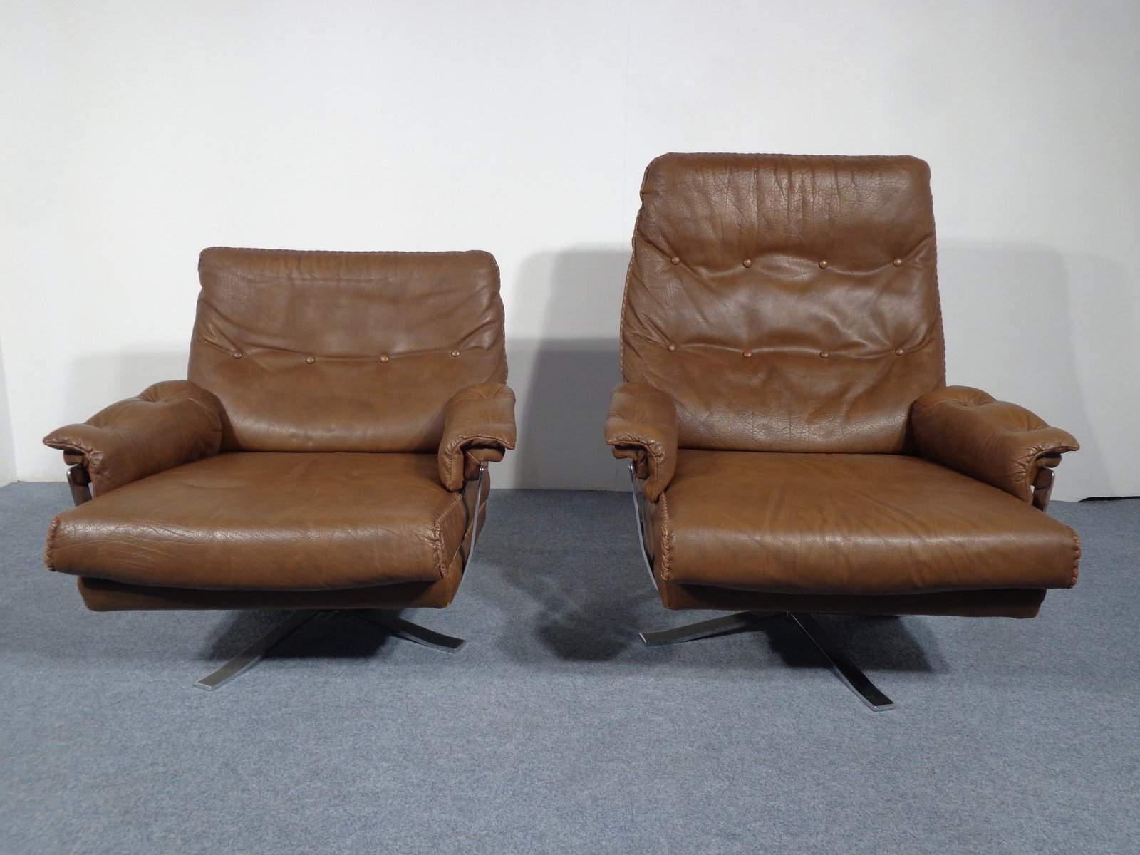 Swedish Leather Swivel Lounge Chairs By Arne Norell For Vatne Mobler, Set  Of 2 For Sale At Pamono Photo