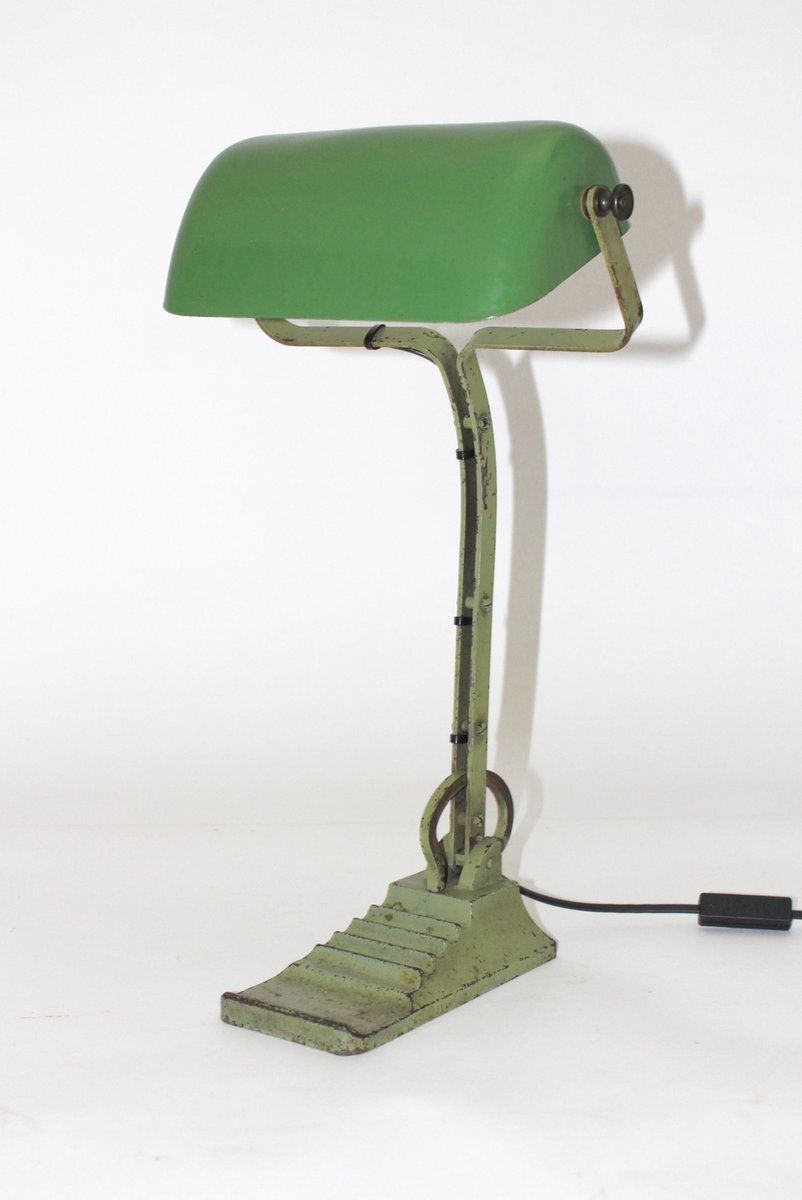 Bauhaus green glass desk lamp 1920s for sale at pamono bauhaus green glass desk lamp 1920s 9 115600 aloadofball Gallery