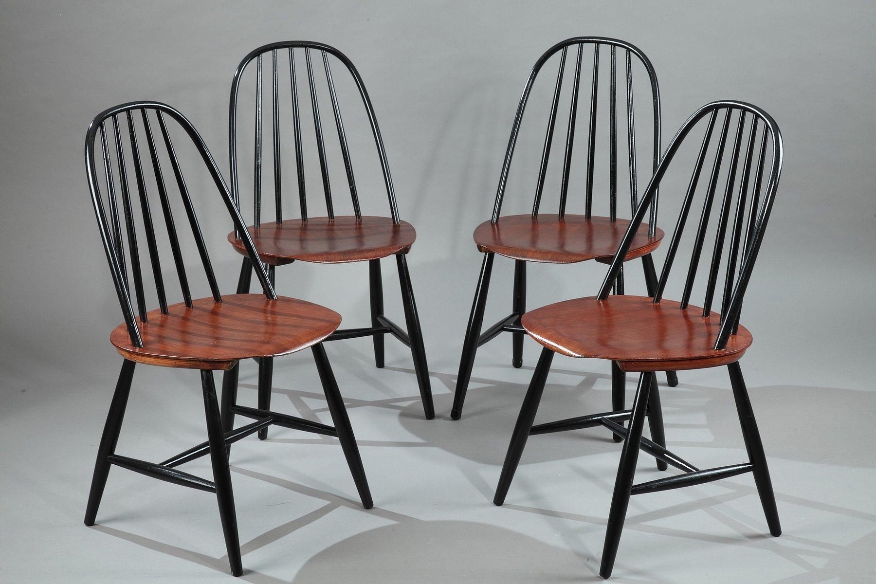 Skandinavische Esszimmerstühle Von Haga Fors, 1950er, 4er Set