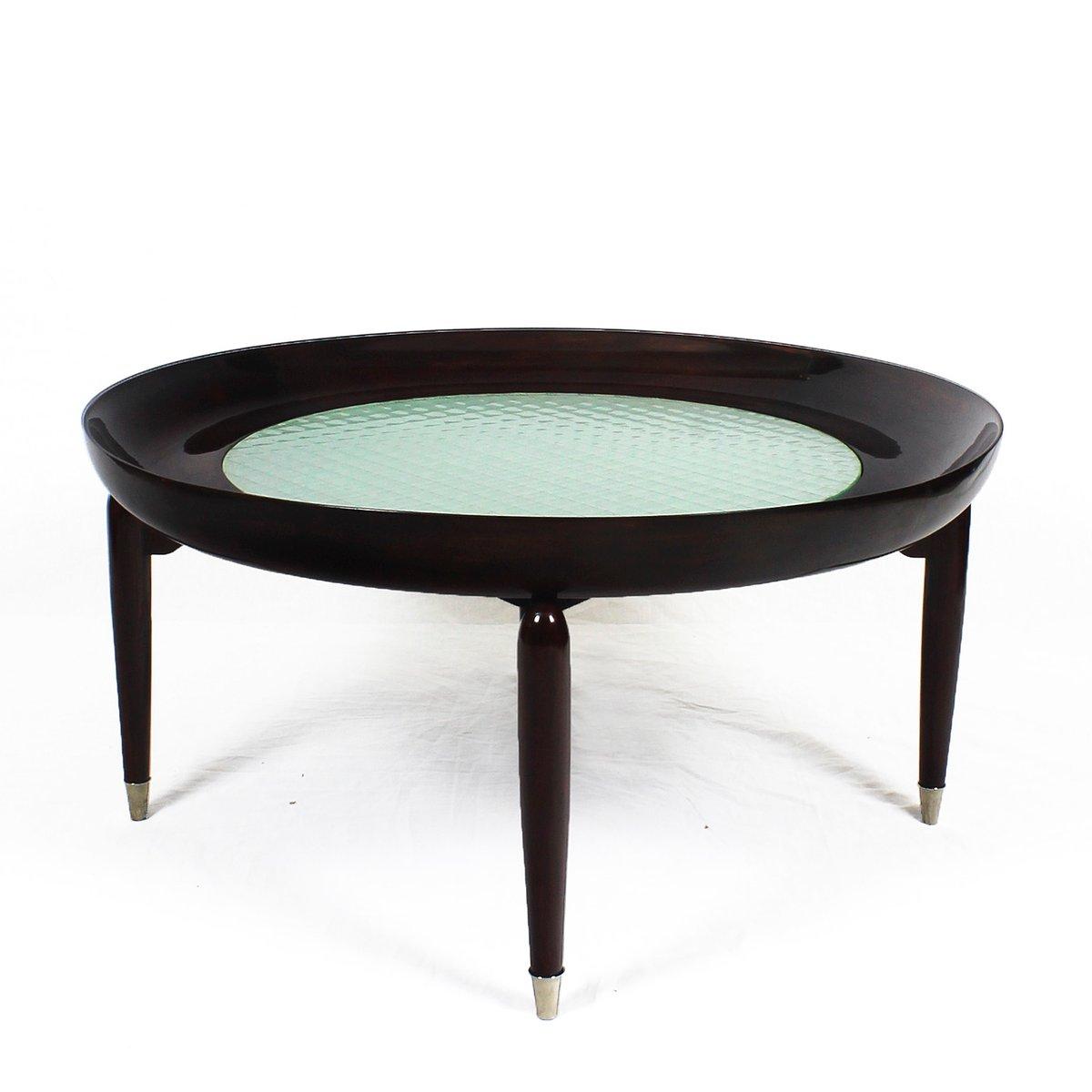 runder couchtisch 1940er bei pamono kaufen. Black Bedroom Furniture Sets. Home Design Ideas