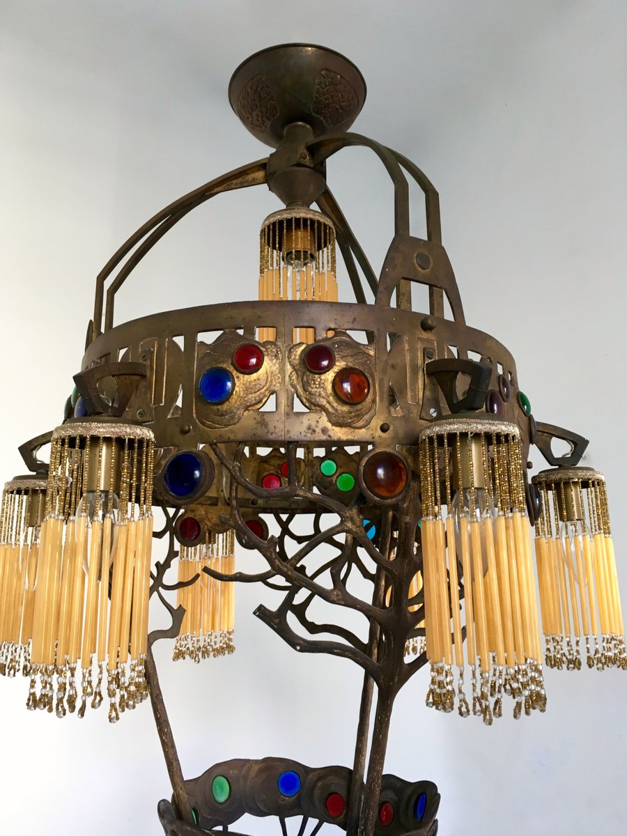 Italian Liberty Chandelier 1910s For Sale At Pamono