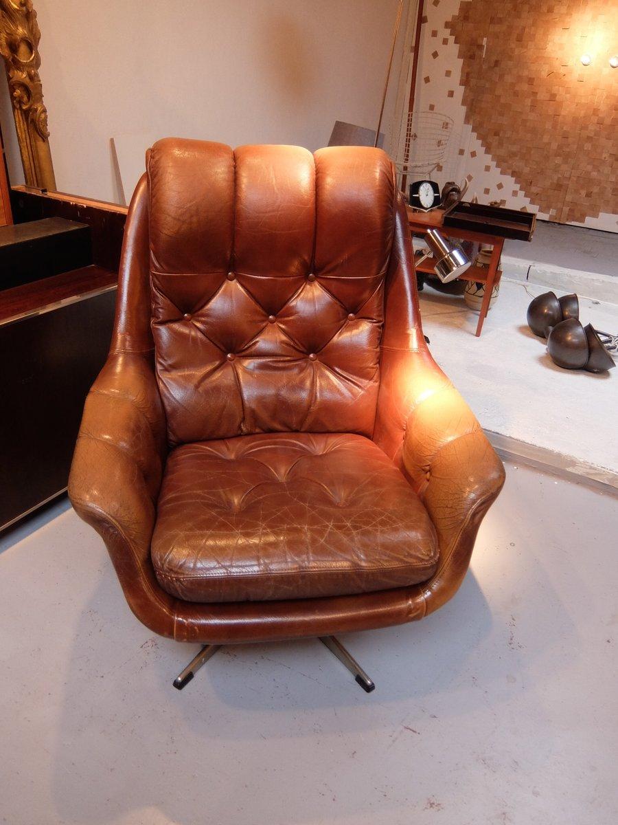 englischer vintage sessel mit skai bezug bei pamono kaufen. Black Bedroom Furniture Sets. Home Design Ideas