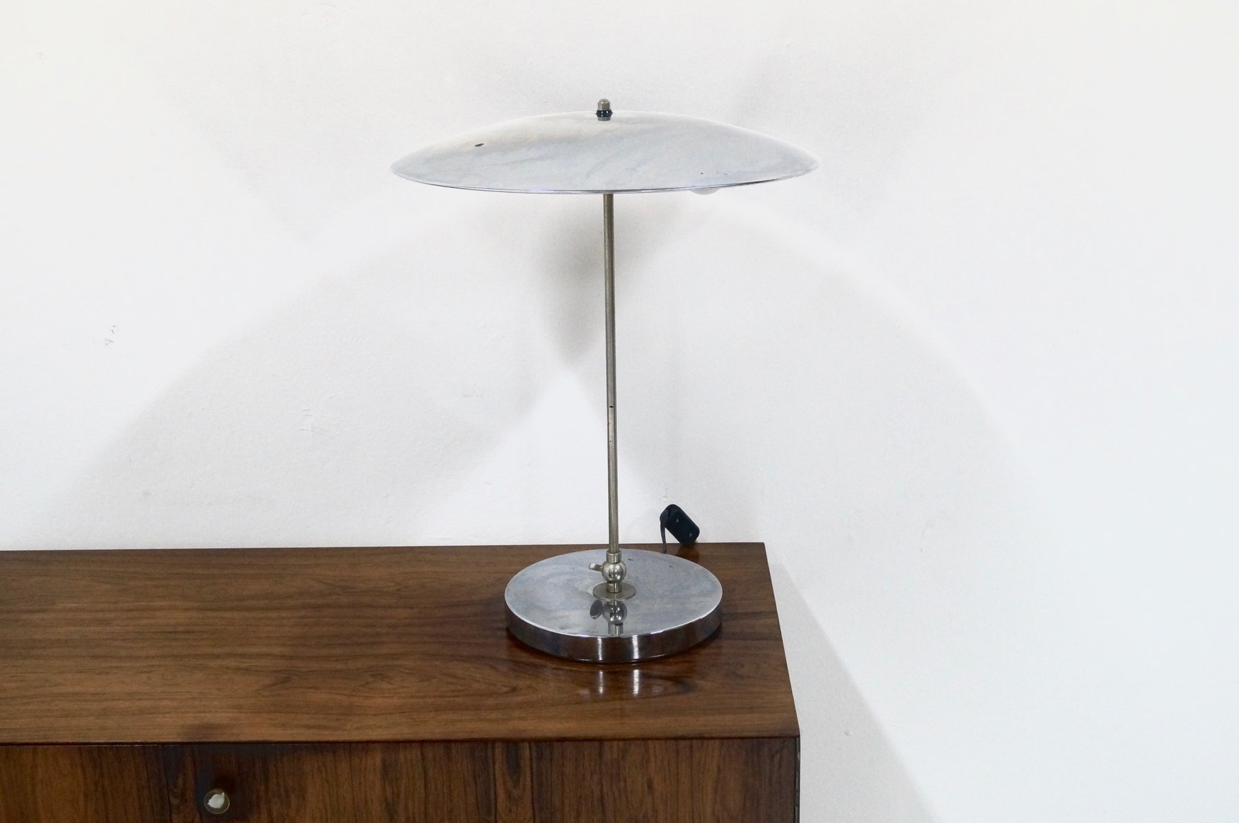Mid Century Dutch Chrome Table Lamp By Hala Zeist, 1960s For Sale At Pamono