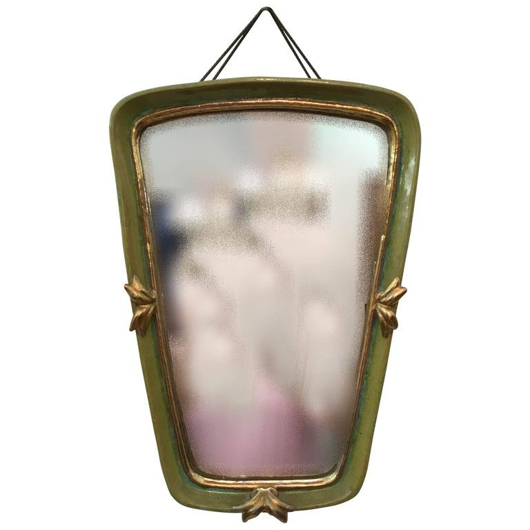 Specchio da parete vintage Art Déco in ceramica di Gmundner Keramik ...