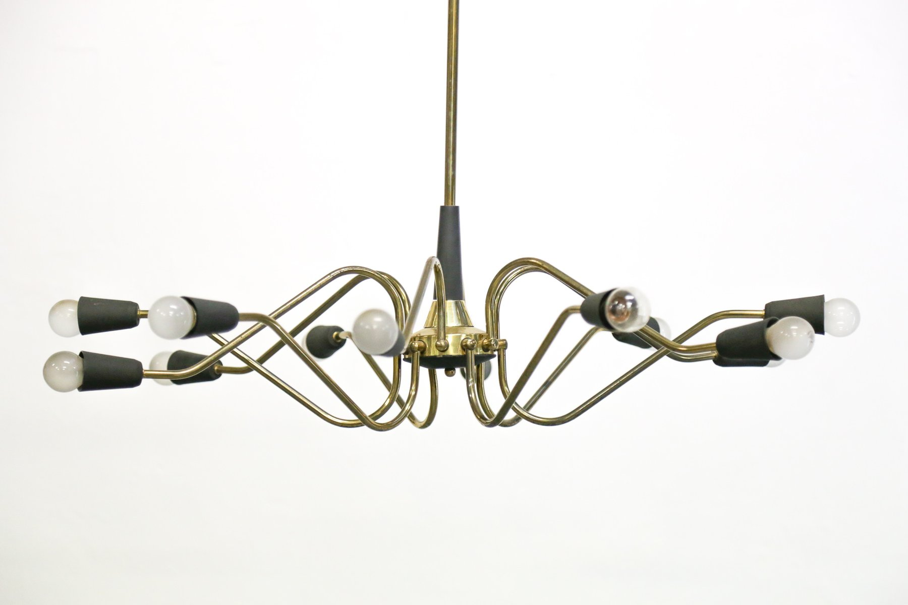 Vintage Italian Chandelier from Stilnovo for sale at Pamono