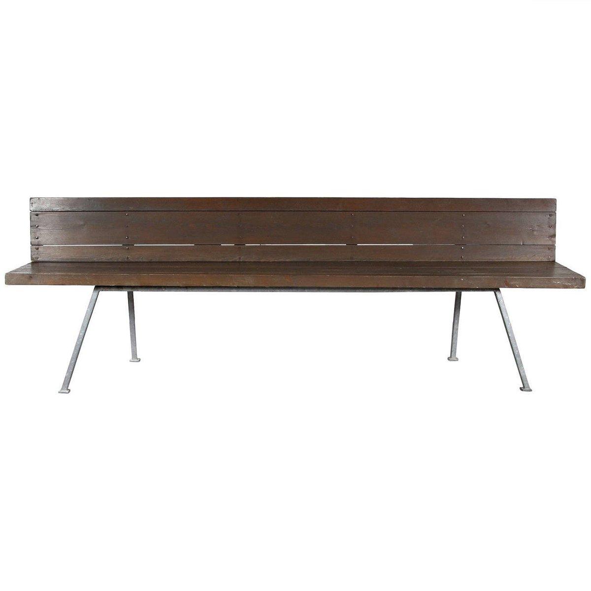 niederl ndische bank aus metall und holz von dom hans van der laan 1967 bei pamono kaufen. Black Bedroom Furniture Sets. Home Design Ideas