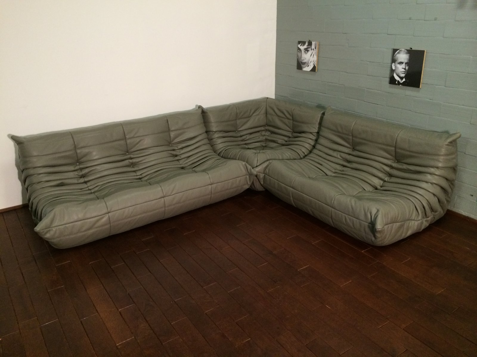 togo ledersofa set in dunkelgrau von michel ducaroy f r ligne roset 1974 bei pamono kaufen. Black Bedroom Furniture Sets. Home Design Ideas