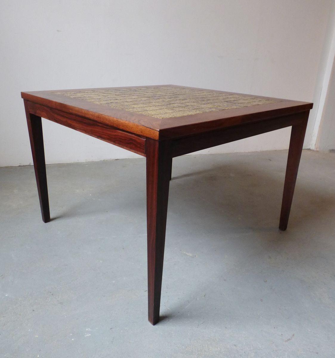d nischer palisander couchtisch mit gr nen kacheln 1960er bei pamono kaufen. Black Bedroom Furniture Sets. Home Design Ideas
