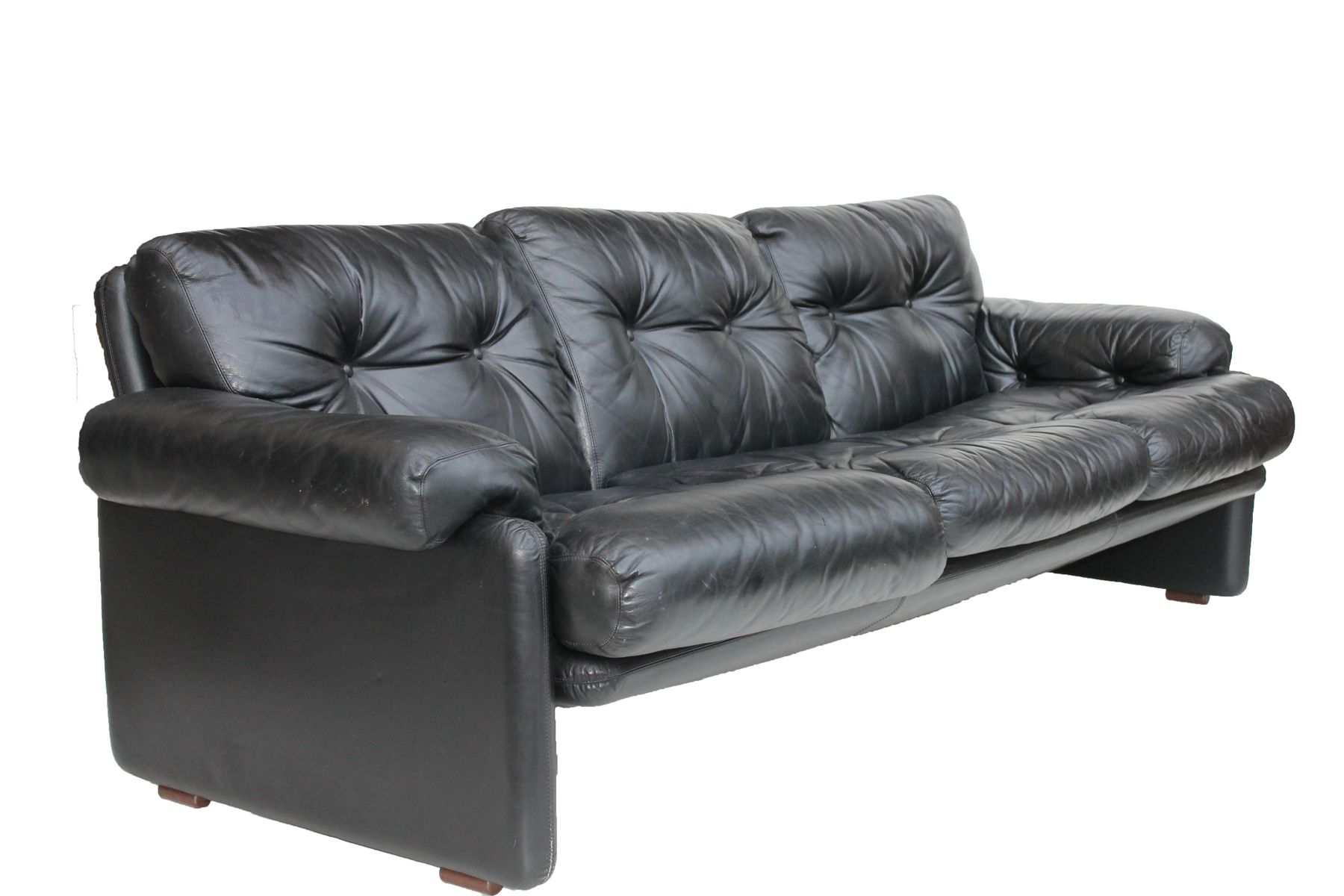 coronado ledersofa von tobia scarpa f r b b italia 1970er bei pamono kaufen. Black Bedroom Furniture Sets. Home Design Ideas