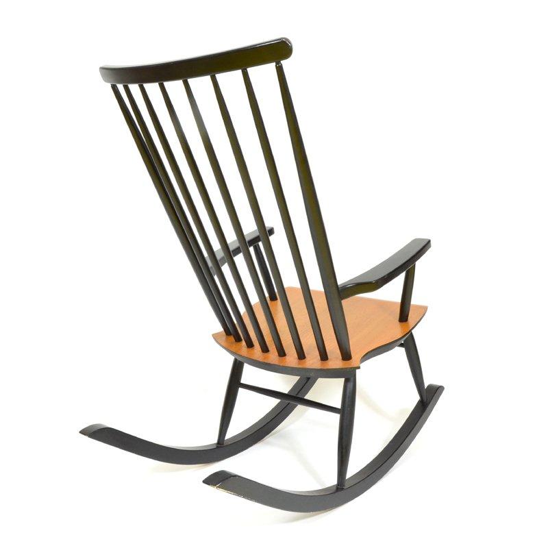 Finnischer mid century schaukelstuhl bei pamono kaufen for Schaukelstuhl auf englisch