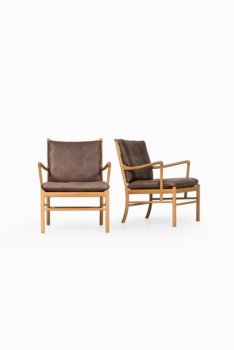 Model PJ 149 Colonial Easy Chairs By Ole Wanscher For Poul Jeppesen, 1960s,  Set Of 2