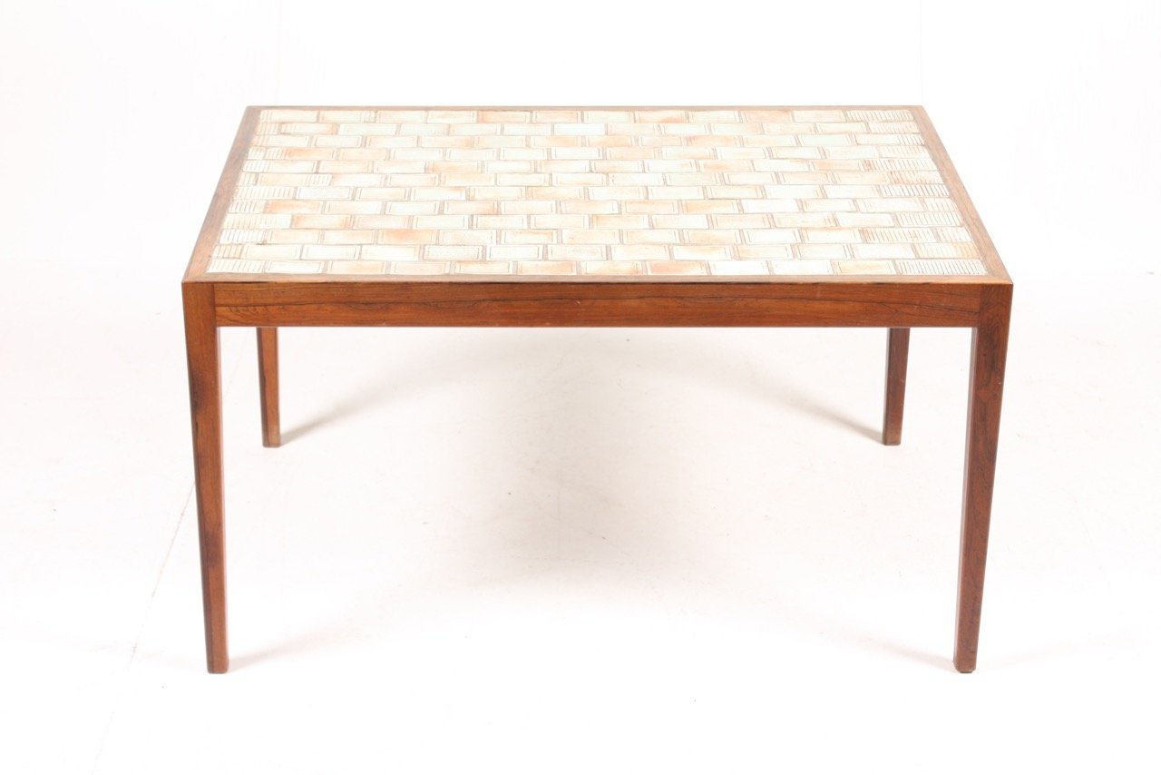Mid century danish rosewood coffee table with art tiles 1960s for mid century danish rosewood coffee table with art tiles 1960s shiifo