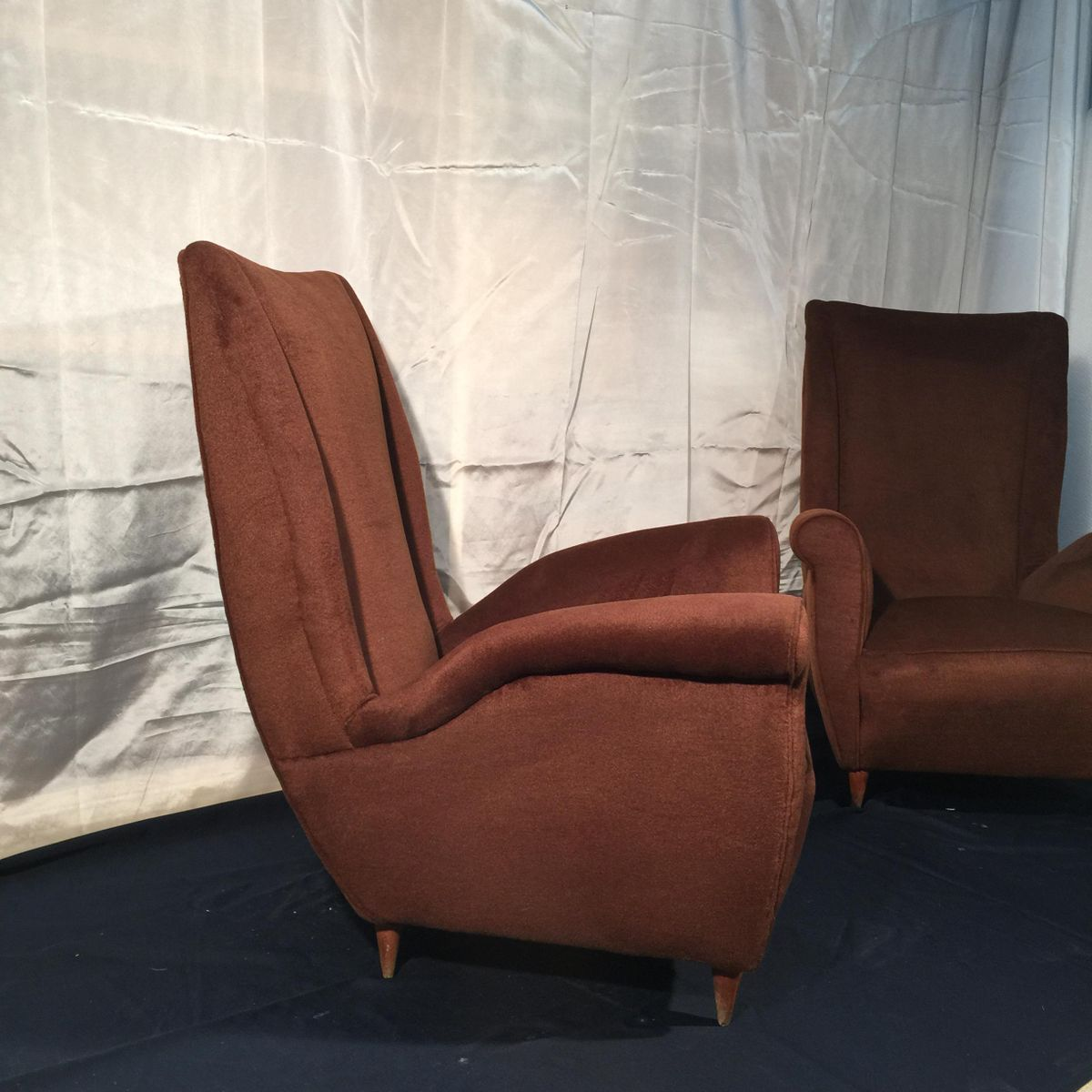 Italienische vintage sessel von gio ponti 1950er 2er set for Italienische sessel design