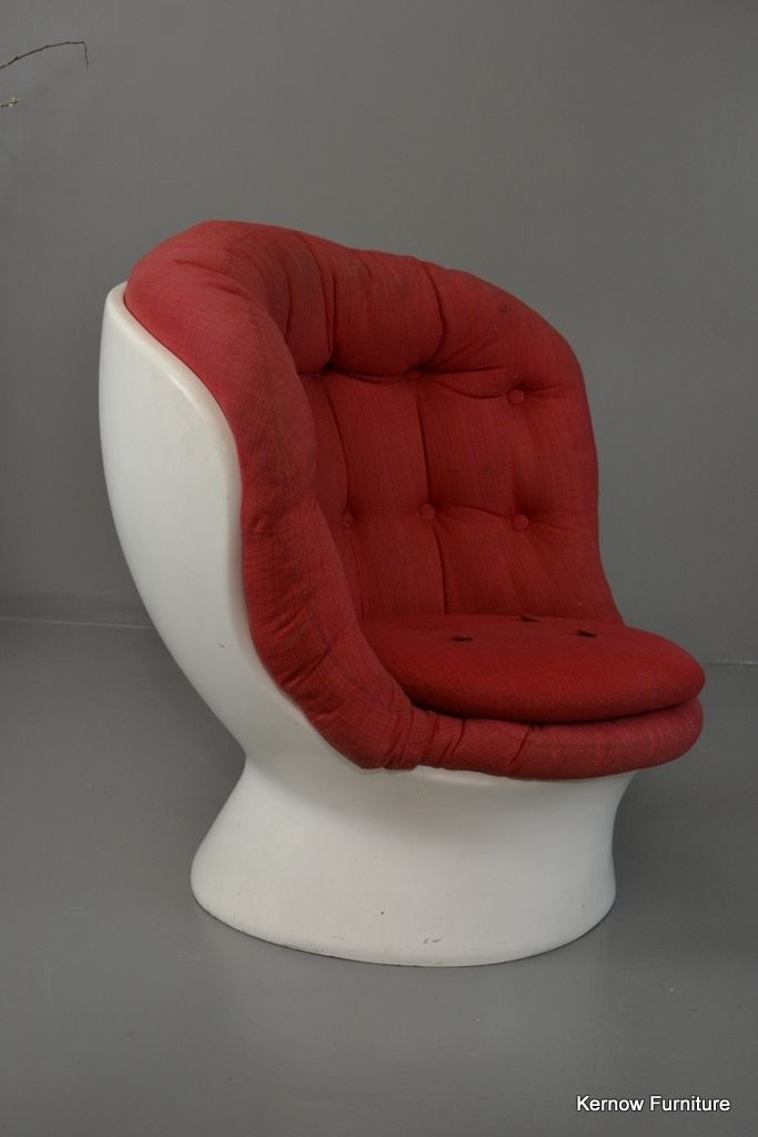 Sessel mit kn pfen in wei und rot 1960er bei pamono kaufen for Sessel in rot
