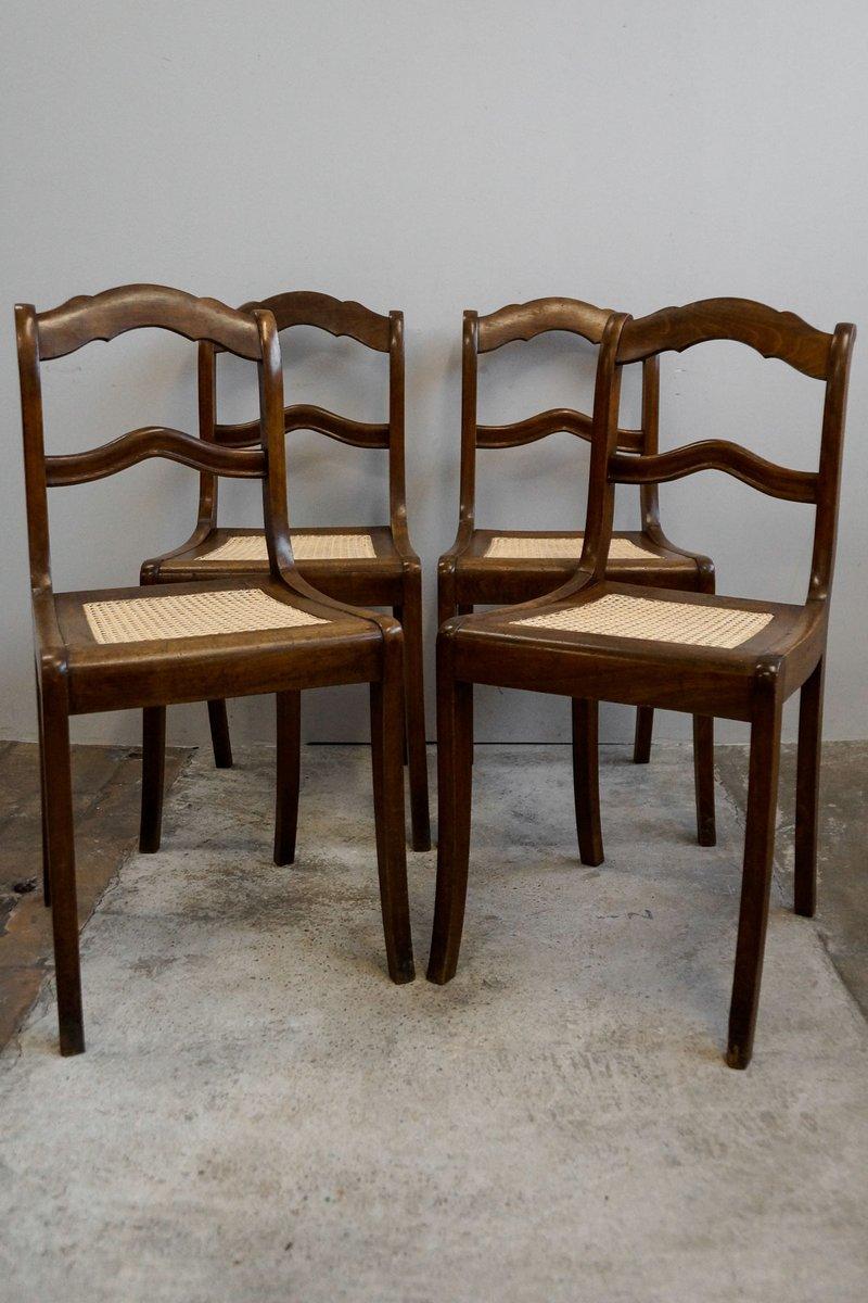 antike biedermeier esszimmerst hle 4er set bei pamono kaufen. Black Bedroom Furniture Sets. Home Design Ideas