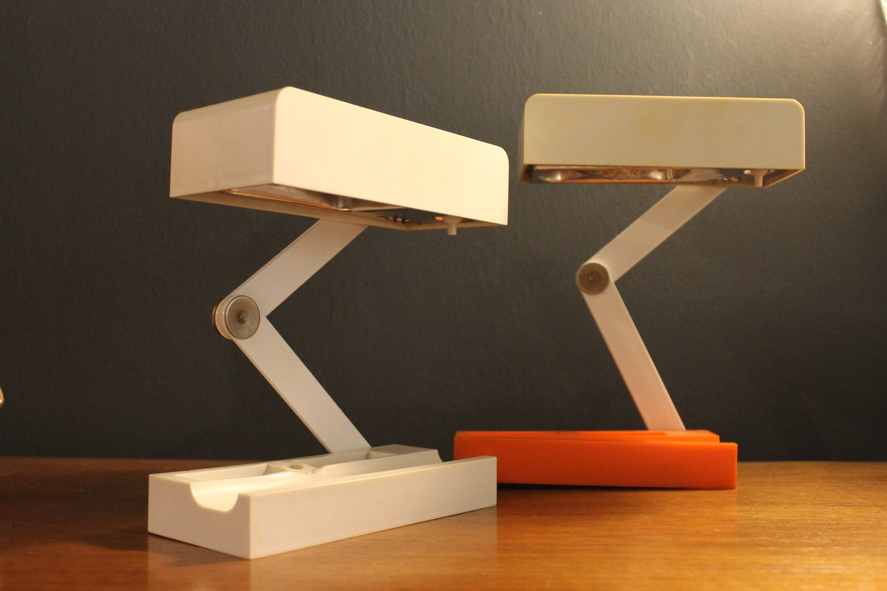 Delightful Candle Table Lamps By Giotto Stoppino For Fontana Arte, 1960s, Set Of 2
