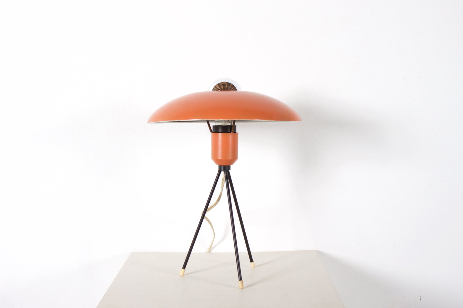 Dutch Tripod Table Lamp By Louis Kalff For Philips, 1950s For Sale At Pamono