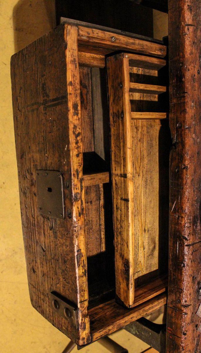 vintage werkbank mit schubladen bei pamono kaufen. Black Bedroom Furniture Sets. Home Design Ideas