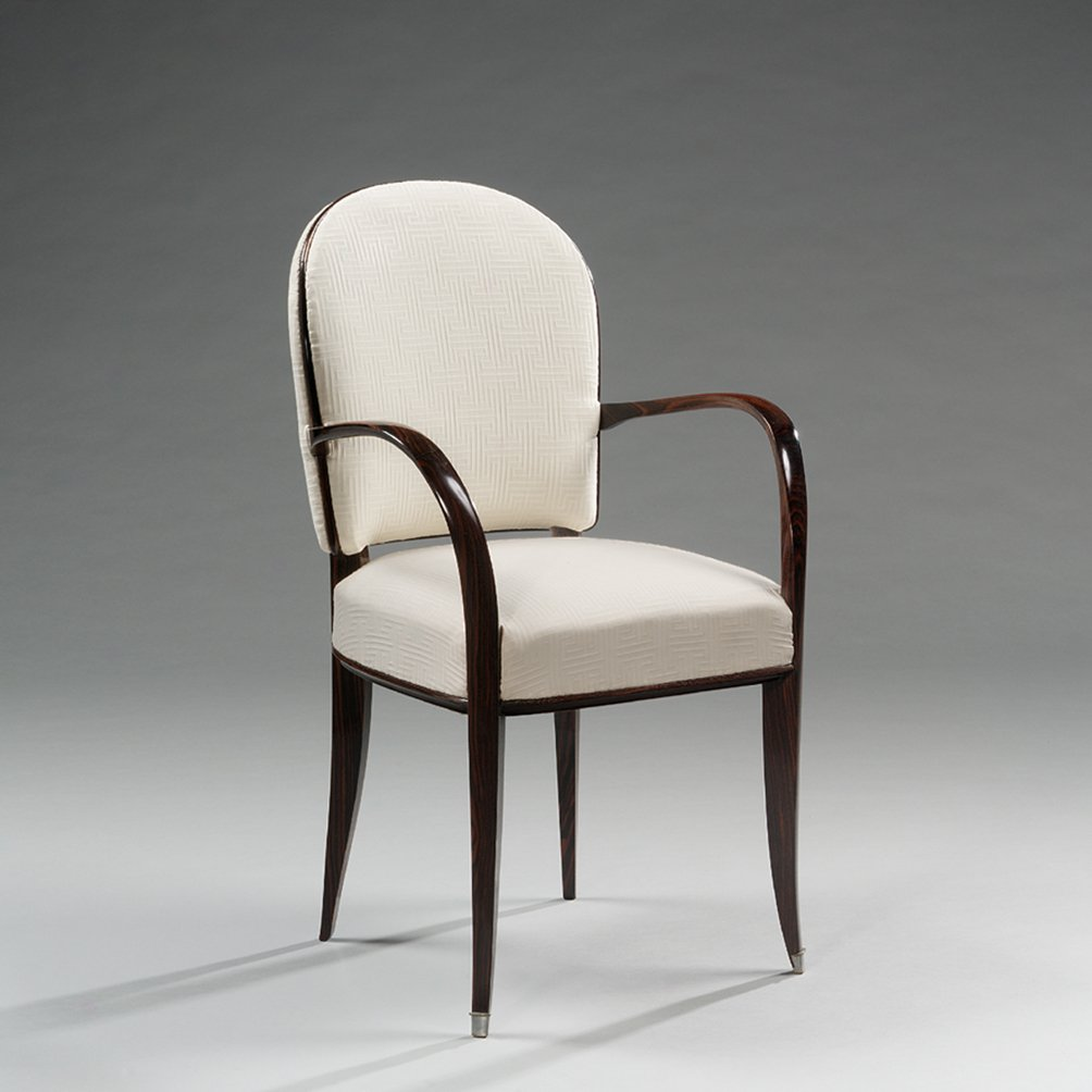 Macassar Ebony Armchair By Jacques Emile Ruhlmann, 1930s For Sale At Pamono