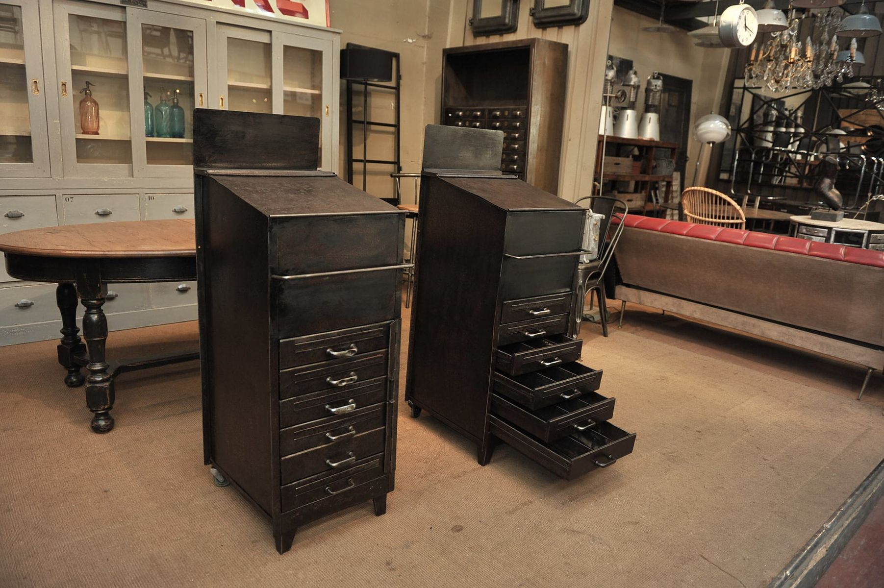 Industrial cabinet with drawers 1950s for sale at pamono for Kitchen drawers for sale