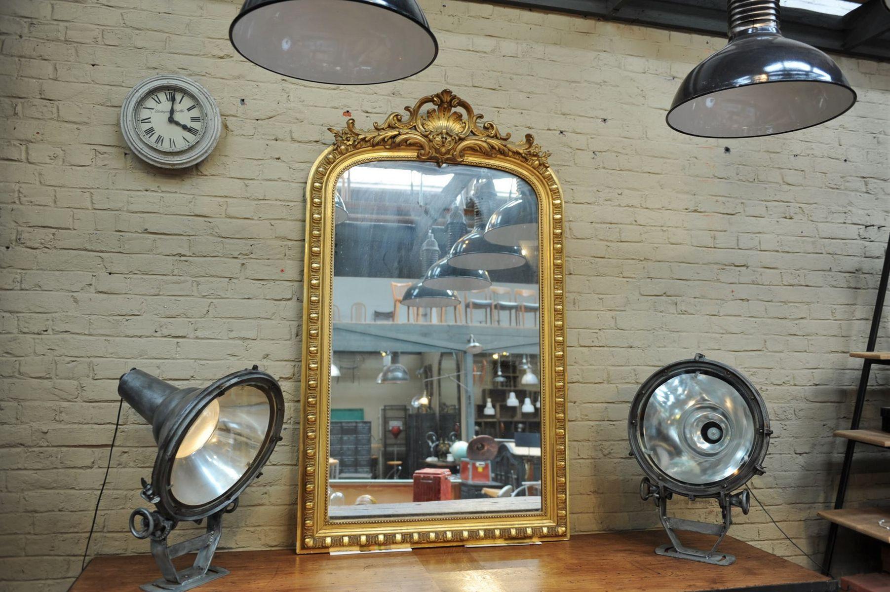 spiegel im vergoldeten holzrahmen 1900er bei pamono kaufen. Black Bedroom Furniture Sets. Home Design Ideas