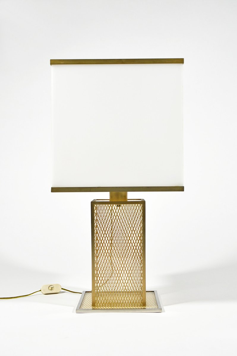 Vintage italian lucite brass and chromed metal table lamp for sale vintage italian lucite brass and chromed metal table lamp aloadofball Choice Image
