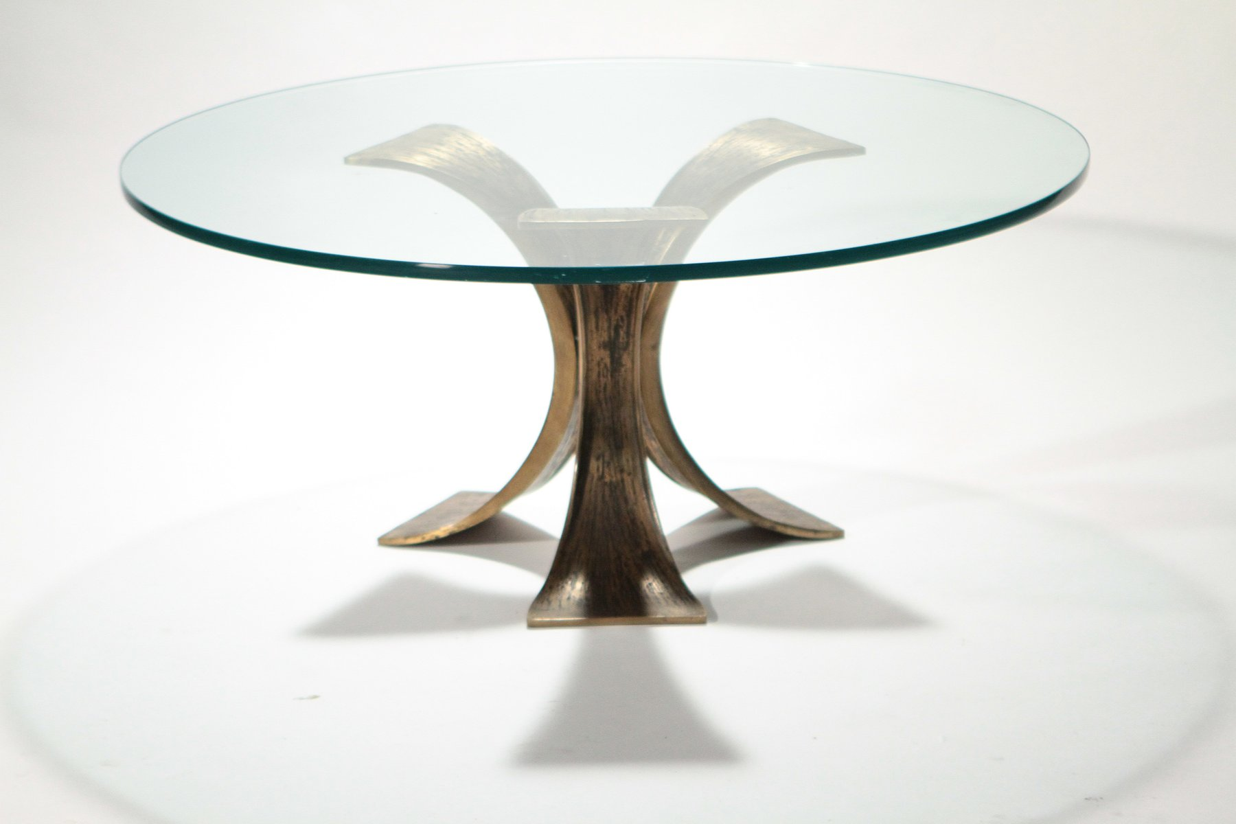 Belgian glass bronze coffee table 1970s for sale at pamono for Table 6 handbook 44