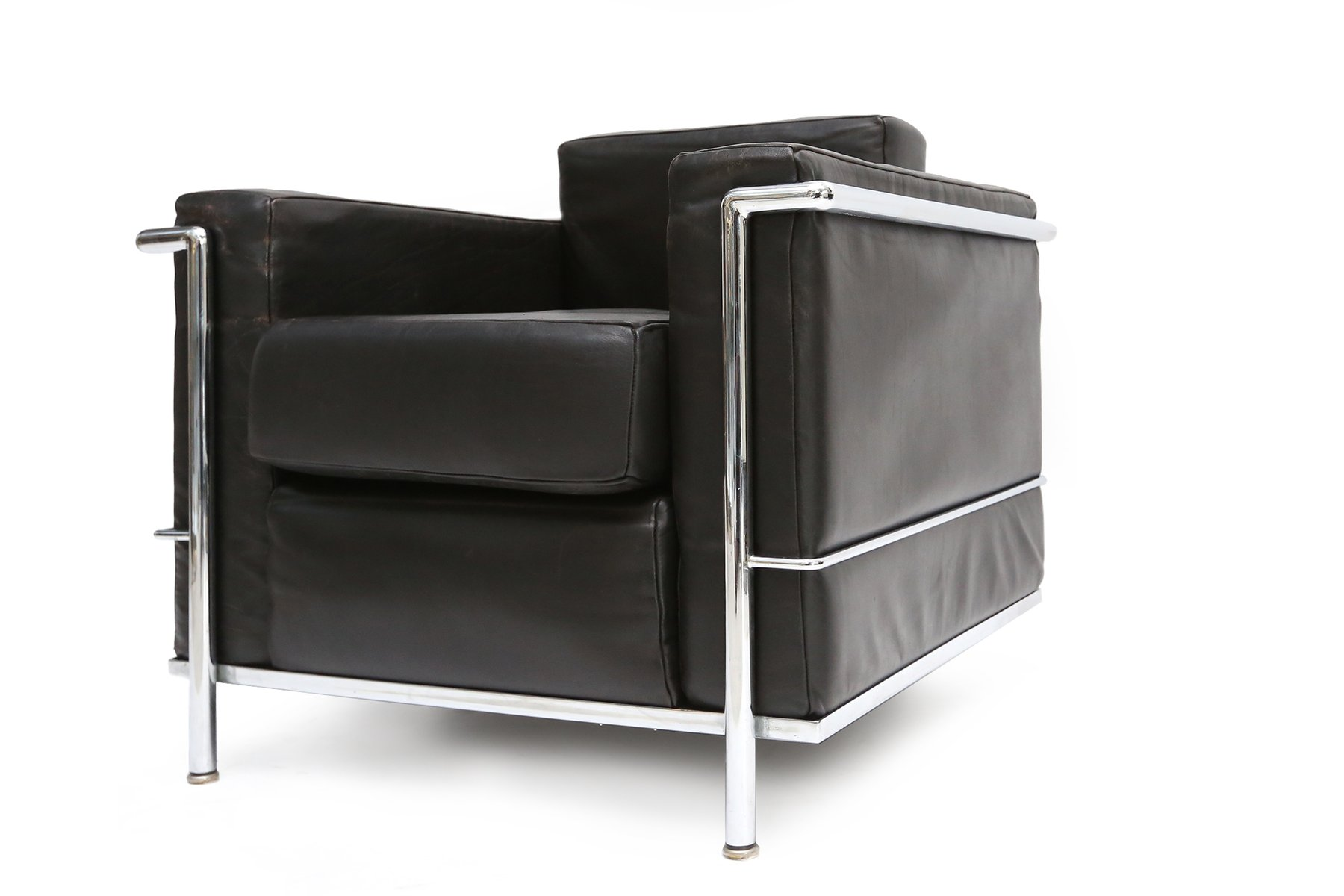 poltrona lc2 vintage di le corbusier jeanneret e perriand per cassina in vendita su pamono. Black Bedroom Furniture Sets. Home Design Ideas
