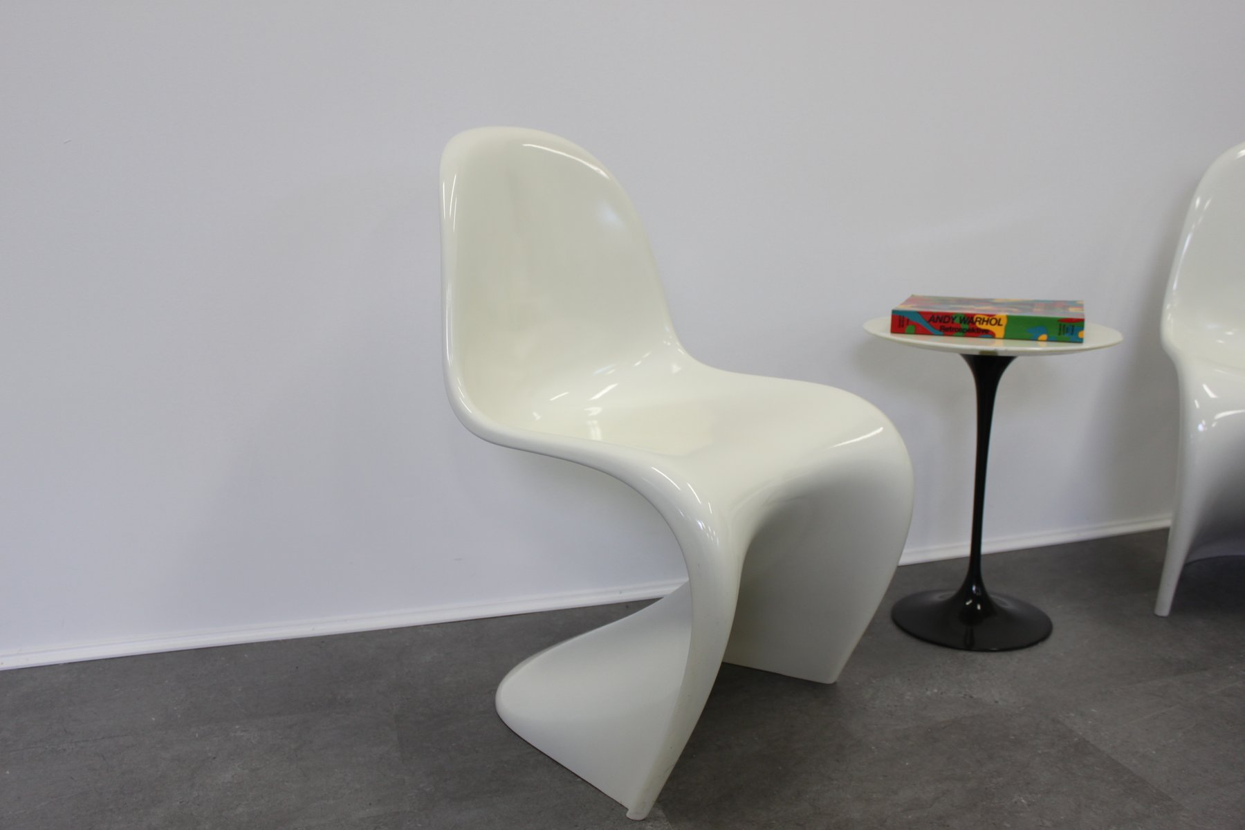 weiss stuhl panton chair int d design rieur junior verner vitra