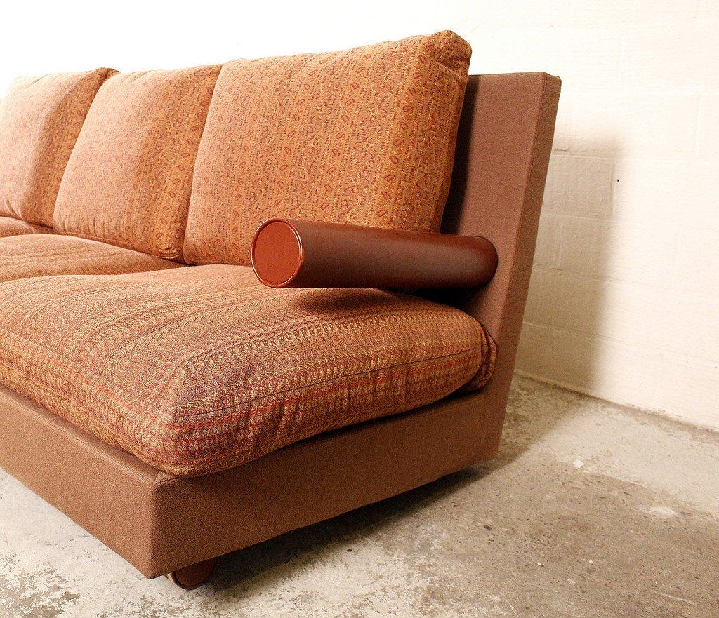 breites drei sitzer baisity sofa von antonio citterio f r. Black Bedroom Furniture Sets. Home Design Ideas