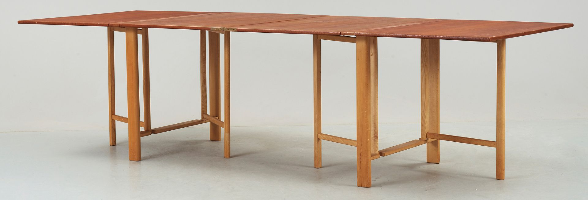 vintage teak beech extension dining table - Extension Dining Table