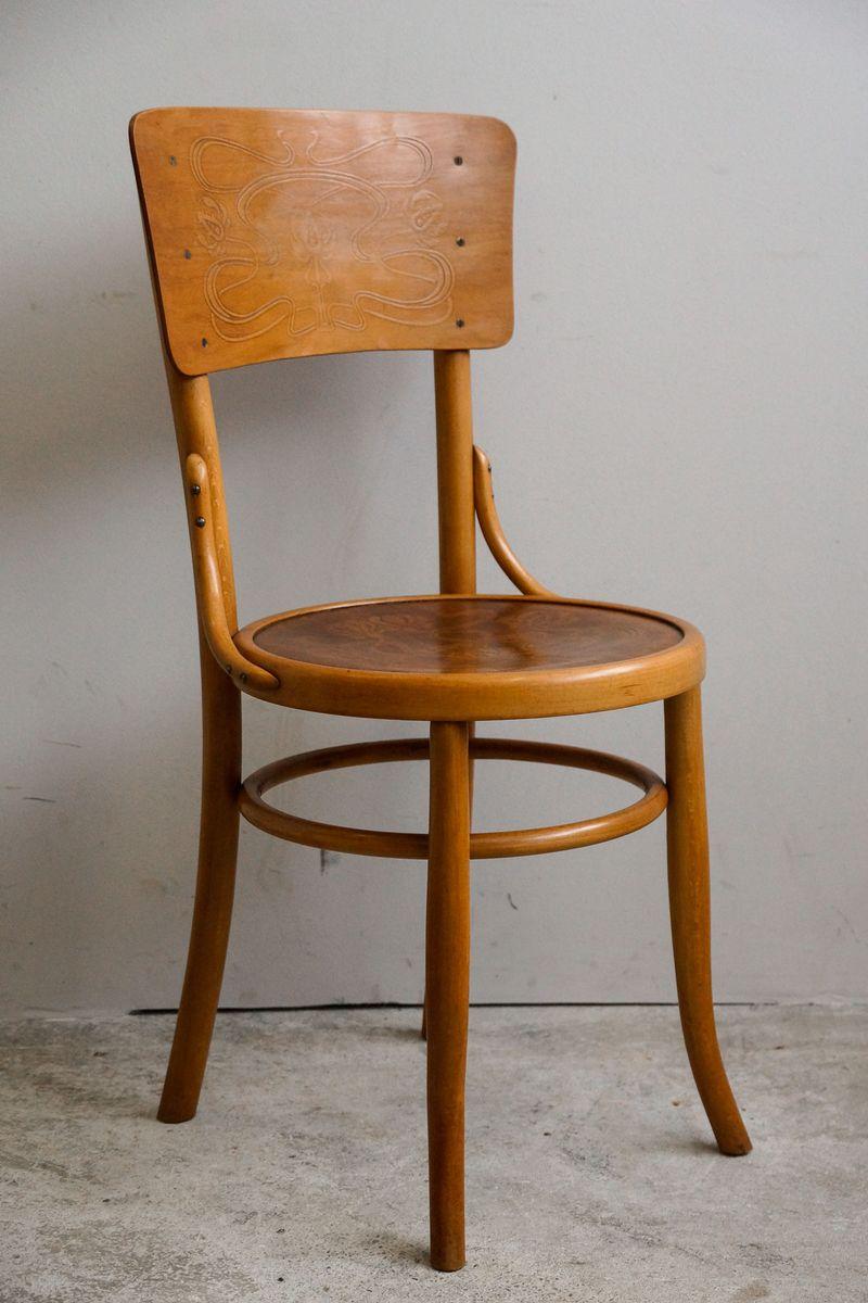 antike bugholz st hle von m bel furnier fabrik ag 1910er 4er set bei pamono kaufen. Black Bedroom Furniture Sets. Home Design Ideas