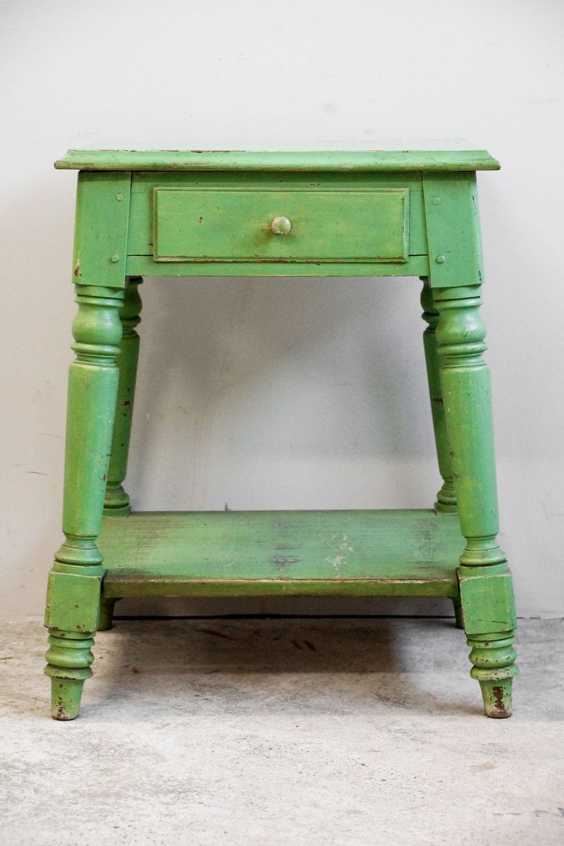 Antique Wooden Side Table 19th Century for sale at Pamono