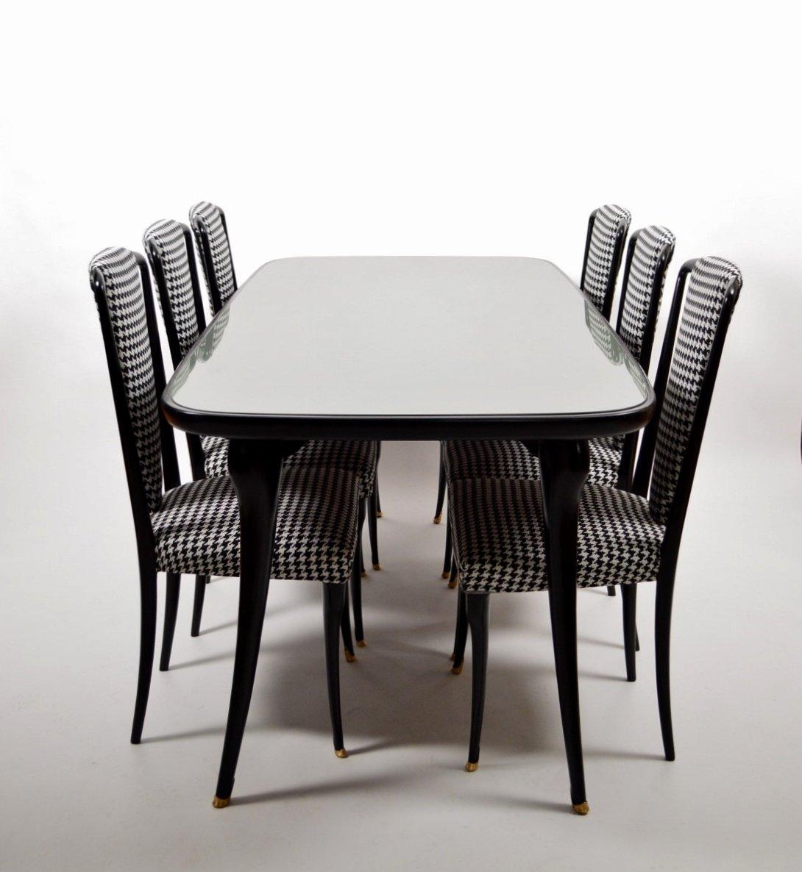 italienisches esszimmer set mit 6 st hlen 1950er bei. Black Bedroom Furniture Sets. Home Design Ideas